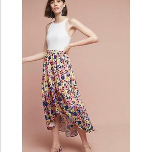 Anthropologie Bethanie High-Low Floral Dress